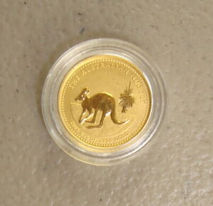 2005 $5 1/20 oz Australia Gold Nugget Kangaroo Bullion Coin Gem Uncirculated