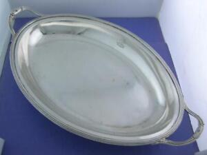 George III Silver Serving Dish PETERSON & PODIO London c1788 unicorn crown crest