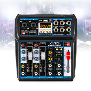 Vonyx VMM-P500 4 Channel PA Mixer USB Audio Interface DSP with Bluetooth