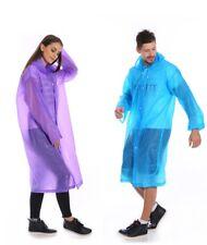 UK Clear See Through Raincoat Transparent Festival Lightweight Rain Coat EVA