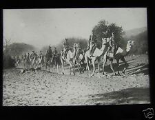 Glass Magic lantern slide WW1 - GERMAN WEST AFRICAN CAMEL TROOPS ON THE MARCH
