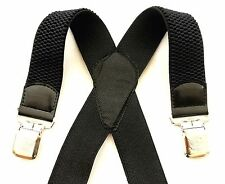 Unisex Adults In God we Trust Fully Adjustable 40mm Black Suspender New Braces