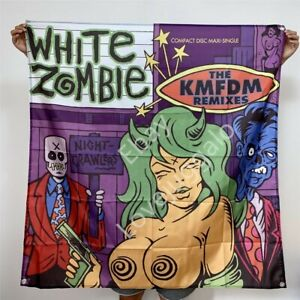White Zombie Banner Nightcrawlers: The KMFDM Remixes Tapestry Flag Poster 4x4 ft