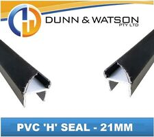 Black 21mm PVC 'H' Weather Seal - 3000mm Length (Trucks, Trailers, Canopies)
