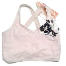 Zero xposure girls bathing suit top Pink blue white Hibiscus flower shimmer
