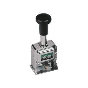 Timbro Numeratore Automatico in Acciaio a 6 Cifre - Lebez art.206L