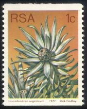 RSA 1977 1c Coil/Silver Leaf Tree/Flowers/Succulents/Cacti/Nature 1v (n21741)