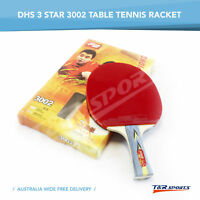 DHS 3002 3 STAR TABLE TENNIS PING PONG RACKET PADDLE BAT LONG HANDLE FREE POST