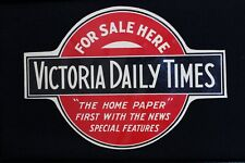 Vintage Newspaper Advertising Decal Victoria Daily Times British Columbia 1950's