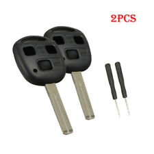 2x 3 Button Remote Key Shell Case Blade For Lexus LS400 RX350 Es300 IS300 GS300