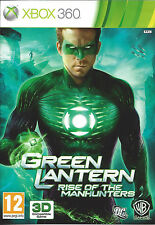GREEN LANTERN RISE OF THE MANHUNTERS for Xbox 360 - with box & manual - PAL