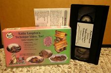 KATHY LANGDON step-by-step technique acrylic Rock Cottage pattern VHS craft DIY