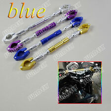 7/8″ 22mm Universal Motorcycle Aluminum alloy Handlebar Brace & Clamp Set Blue