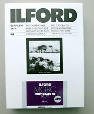 "Ilford NEW Multigrade RC Deluxe 7x5""  Black & White Paper Pearl 100 sheets"