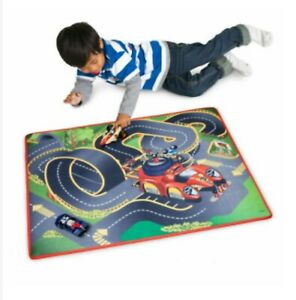 Disney Store Mickey Mouse Roadster Pete Racers Playmat Vehicle Road Set Cars NEW