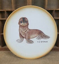 Vintage Roger Brown Akiku The Seal Pup collector 4081 plate 1979