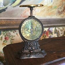 Antique English Brass & Iron Weight Postal Letter Scale No.11 Decorative