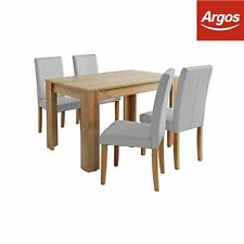 Argos Home Miami Dining Table and 4 Midback Chairs - Grey