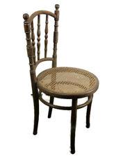 Vintage Kohn Wien Chair  Bistro Ice Cream Parlor Rush Cane Seating Bentwood
