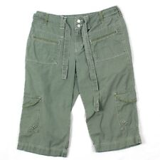 Gloria V Women's Capri Pants Cactus Green Active Cropped Cargo Ripstop 6 Hiking