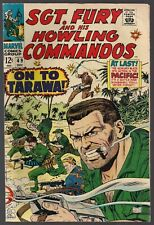 SGT. NICK FURY AND HIS HOWLING COMMANDOS #49 MARVEL 1967 WWII PACIFIC ACTION VF-