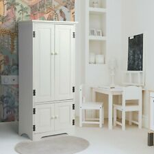 Wood Storage Cabinet Organizer w/2 Doors Adjustable Shelves Pantry Living Room