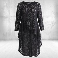 Damen Kleid .. schlankmachend -COOL an der POOLBAR- Schwarz Magna Spitze