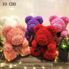 40cm Red Rose Bear Flowers Artificial Teddy Bear Roses Foam Valentine's Day Gift