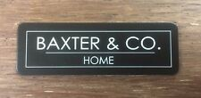 Name Badge - Text with Logo or border & pin attached, laserable plastic 70X23mm