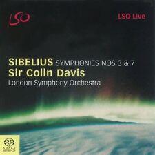 Colin Davis, J. Sibelius - Symphonies 3 & 7 [New SACD] Hybrid SACD