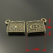 33450 Retro Antiqued Bronze Tone Holy Bible Note Book Pandent Charms 15mm 20pcs