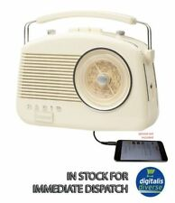 Beige Steepletone Brighton 1950 Retro Cream 3 Band Portable Radio FM MW and LW