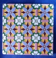 "Minton Hollins,   Majolica 8""x8"" tile c1865/68."