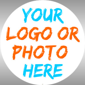 Custom Logo labels- Personalised  Round Stickers coloured LOGO - Photo stickers