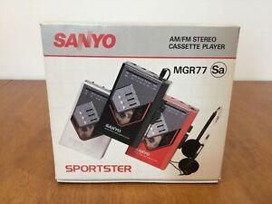 Sanyo MGR77 AM/FM Radio Cassette Player Walkman w/ Instruction Manual #622
