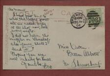 Mrs Owen, Betton Abbots, Shrewsbury 1906 - 'The Mount' Shop Late Nights  qp890