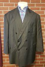 Ing. Loro Piana Double Breasted Pinstripe Mens Blazer Four Seasons 130s Wool 56R