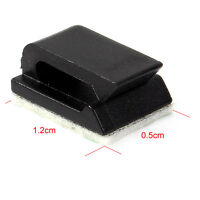 20x Car Wire Cord Cable Holder  Tie Clips Fixer Organizer Drop Adhesive Clamp *