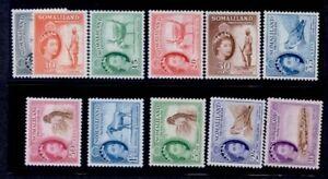 SOMALILAND #128-139 QE 1953 DEFINITIVE SET MINT