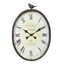 Wall Clock Large Art Metal Vintage Bird