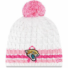 NEW NFL Jacksonville Jaguars Breast Cancer Awareness BCA Cap Beanie Pom Knit Hat