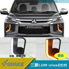 Car Daytime Running Lights DRL / Yellow Turn Signal For Mitsubishi L200 triton