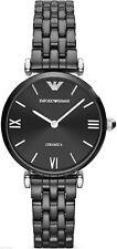 Nuevo emporio Armani Reloj Para Damas Negro Cerámica AR1487 - 2 Año De Garantía