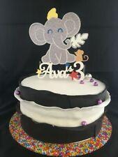 Dumbo inspired Elephant Circus Customised Personalised Cake Topper Birthday