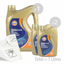 Car Engine Oil Service Kit / Pack 7 LITRES Gulf Formula ULE 5w-40 7L