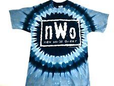 Vintage New World Order shirt NWO Wrestling shirt Liquid Blue Tye Dye 1998 NWT M