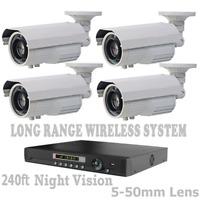 LONG DISTANCE (2,500FT) WIRELESS TRANSMISSION WEATHERPROOF 1200TVL CCTV + DVR