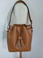 Tan faux leather bucket bag handbag shoulderbag  by Faith New
