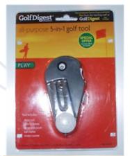 5-in-1 GOLF TOOL BALL MARKER Divot Tool Golf Digest NEW