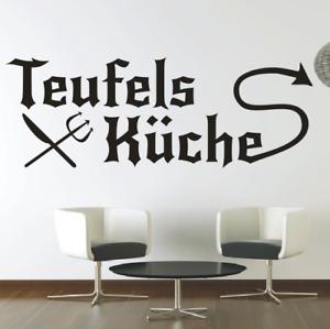 Spruch WANDTATTOO Teufels Küche Sticker Wandsticker Aufkleber Wandaufkleber 4